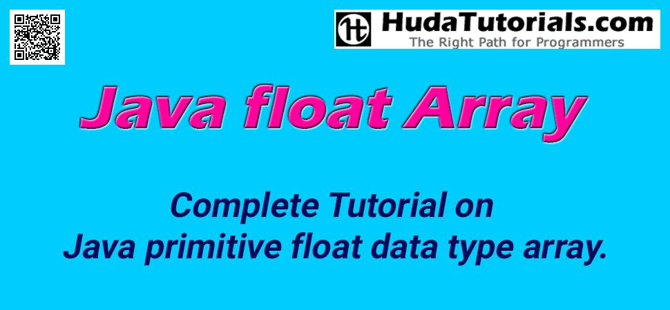 Java float Array - float Array in Java